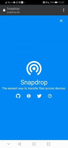 Snapdrop Android 1