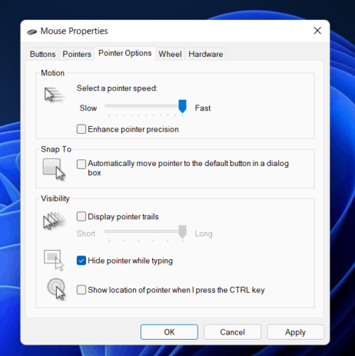 how to disable mouse acceleration in windows11 3